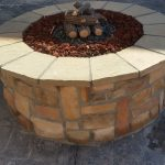 Firepit in outdoor living area