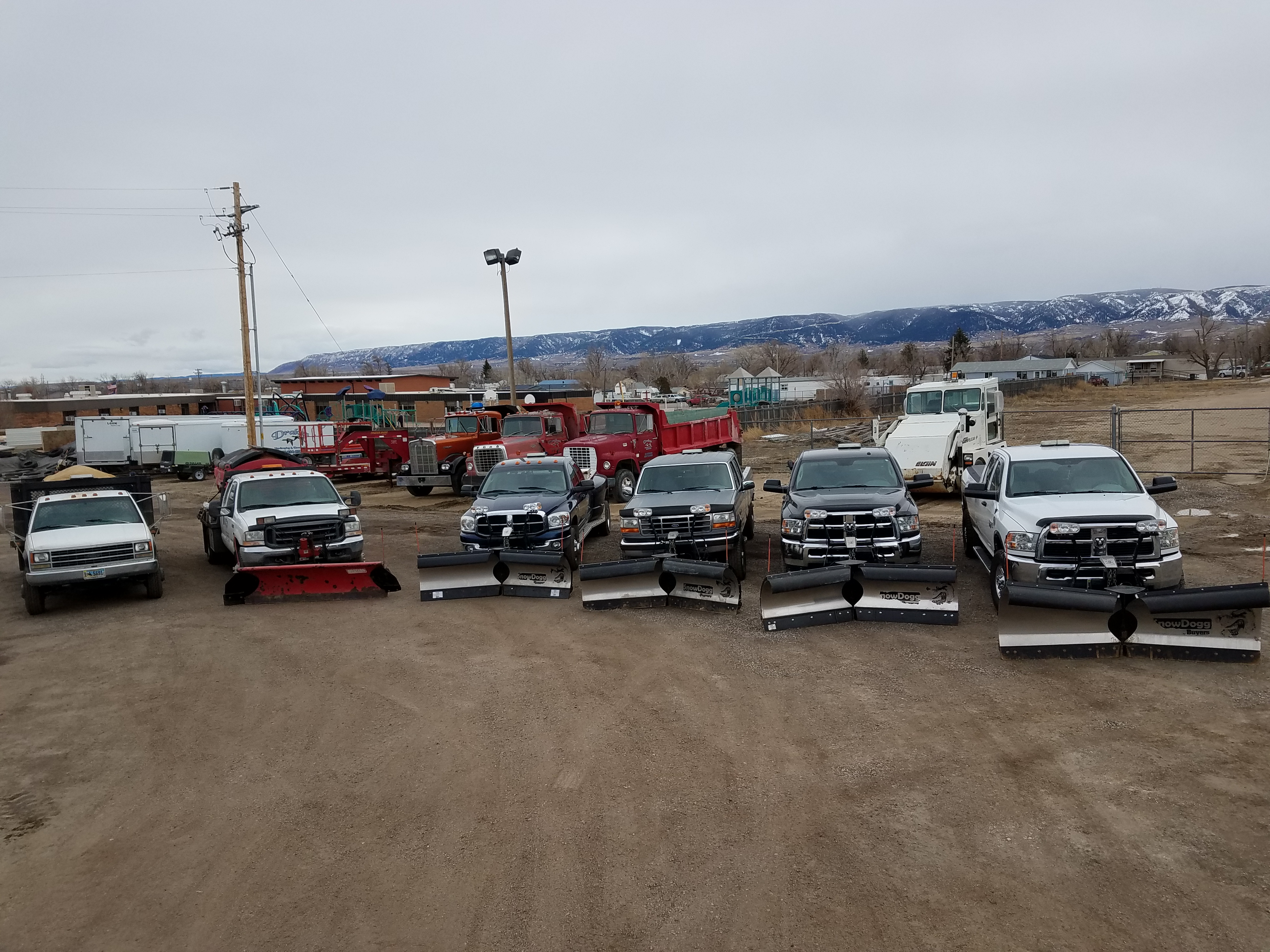 Our fleet of plows