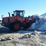 loader and snow